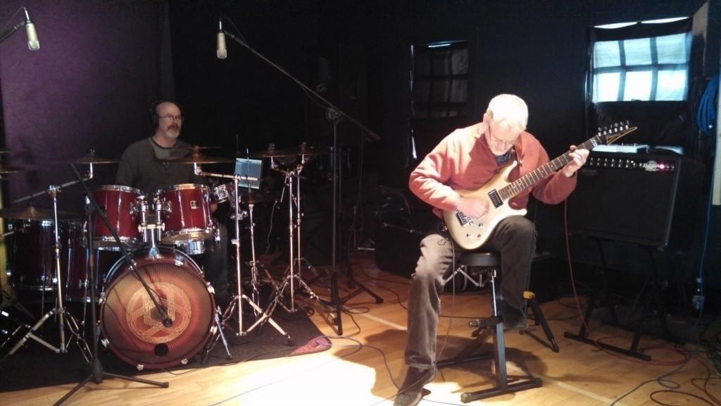 Darin Brannon and Bill Shannon writing original music at Circuline rehearsal