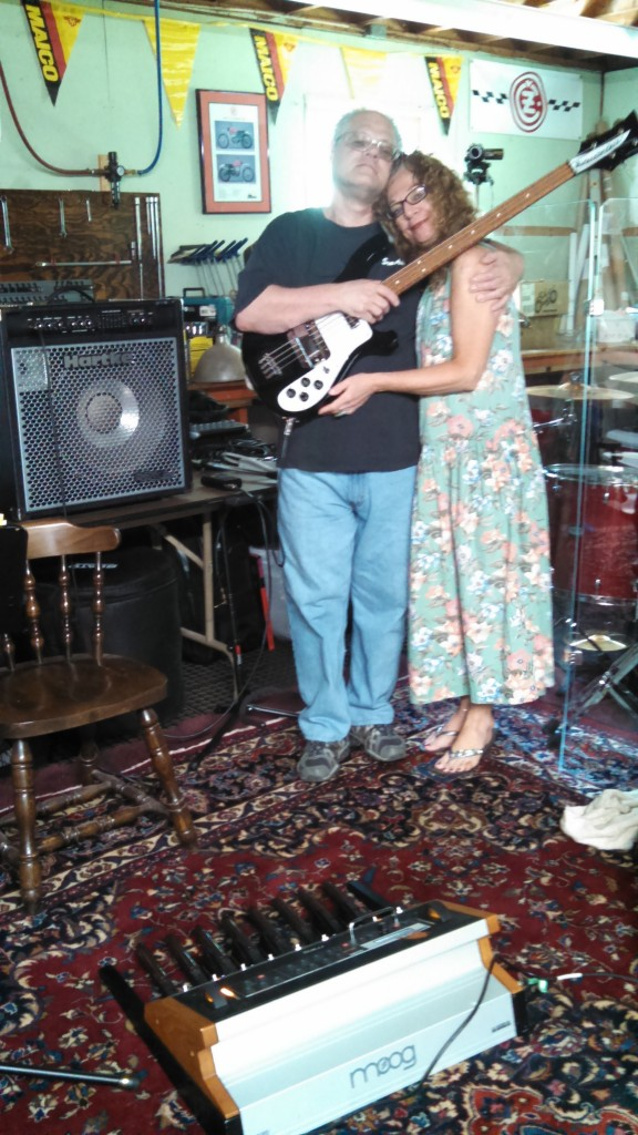 New Circuline member Daniel Aggers (bass, bass pedals, vocals), with lead vocalist Natalie Brown