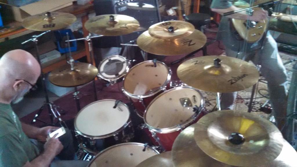 Darin Brannon behind his thunderous drum kit.