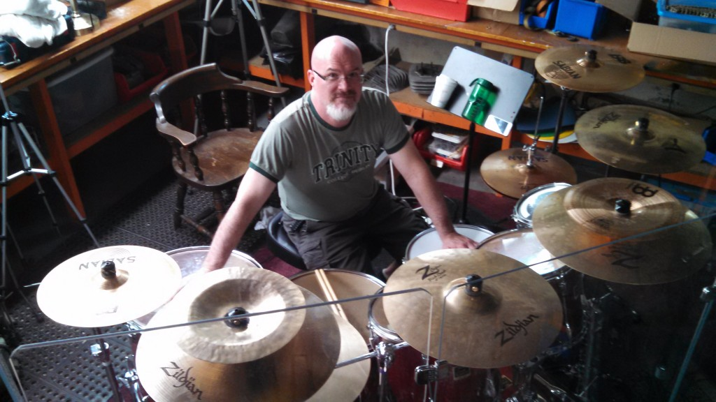 Darin Brannon is so in love with his drummies and cymbals!