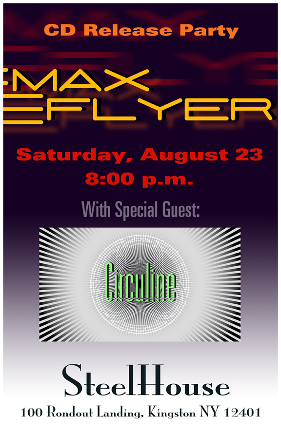 Circuline will open for Max Flyer - CD Release Party!
