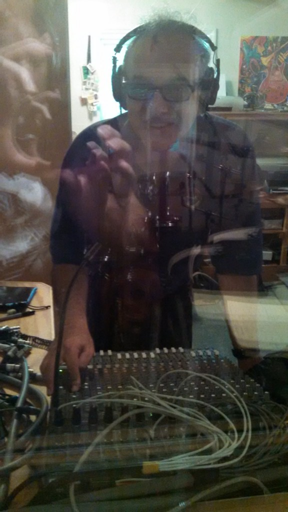 Vinnie Martucci behind the control room glass - July 2014