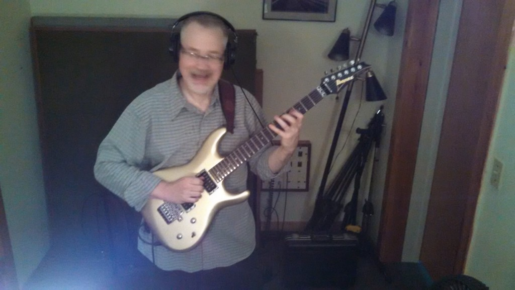 Bill Shannon is so happy to in the studio!
