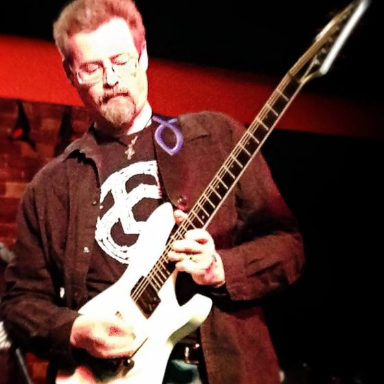 Superfan Dan Lohrfink - sporting a Circuline shirt on a live gig!