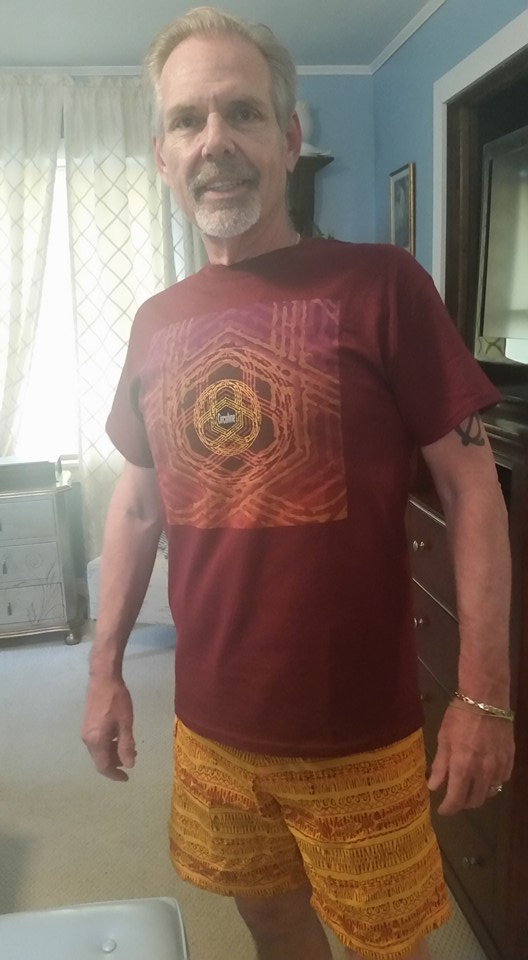 Florida superfan Michael Giordano, sporting one of the red Circuline t-shirts!