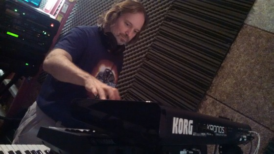 Andrew Colyer composing in The Cave for Circuline's second album.