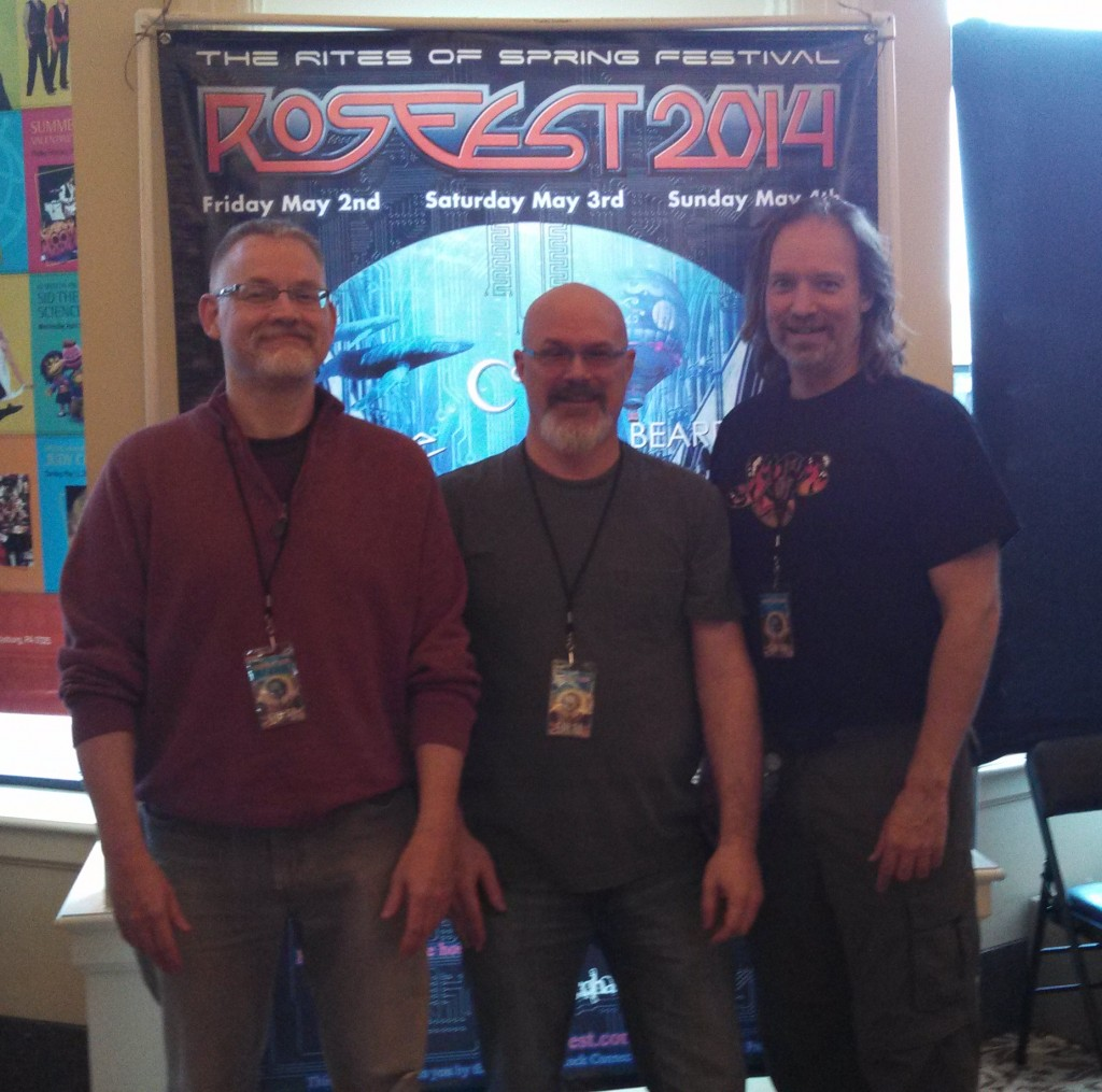 Circuline bandmates Bill Shanon, Darin Brannon, and Andrew Colyer at RosFest 2014