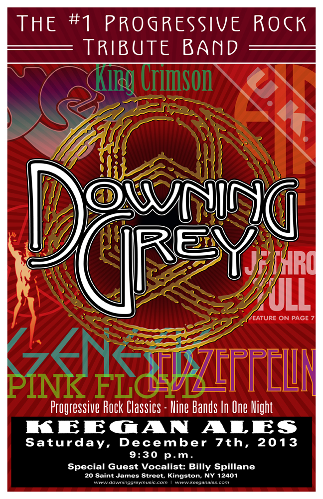 Former members of the progressive rock tribute band Downing Grey came together to form Circuline – past poster #3