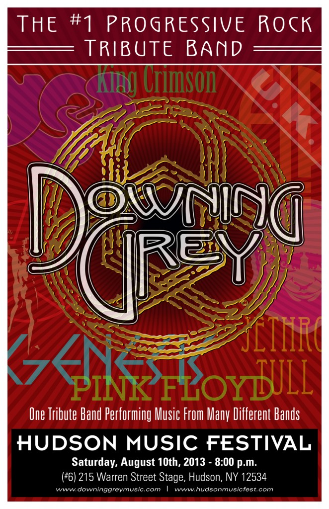 Former members of the progressive rock tribute band Downing Grey came together to form Circuline – past poster #2