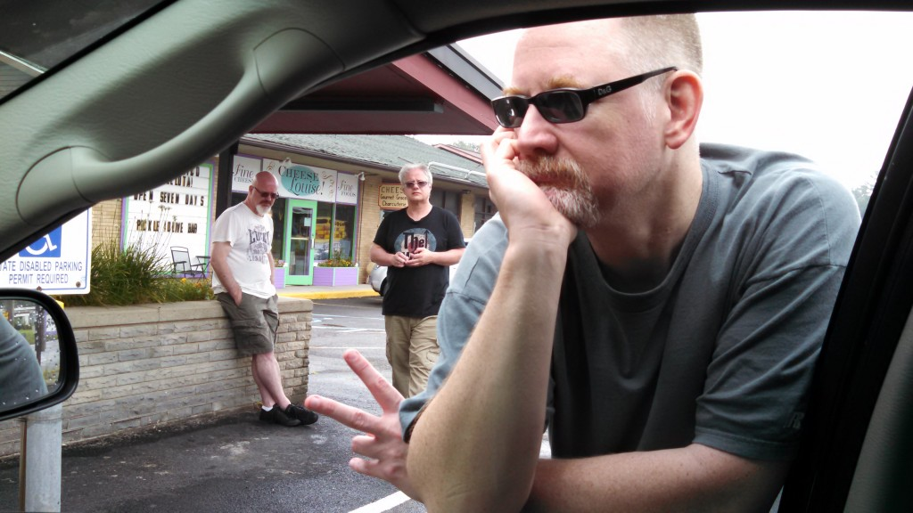 Circuline picking up food on the way to the studio
