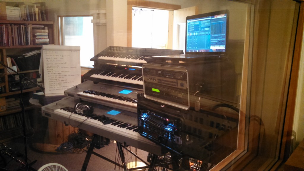 Keyboard rig at Vinnie's Garage - July 2014