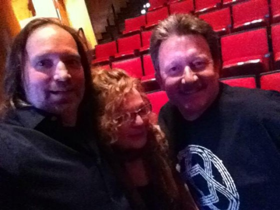Circuline fan Dave Bourque with Andrew Colyer and Natalie Brown