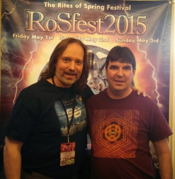 Andrew Colyer with Circuline fan at the Rites of Spring Festival