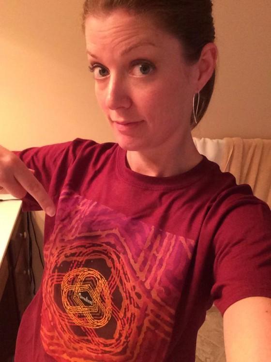 Stephanie Shultz Ashley sporting her Circuline shirt with attitude.