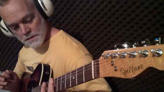 """William """"Billy"""" Spillane plays a custom guitar built by his brother."""