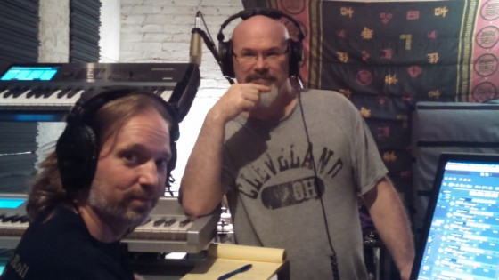 Andrew Colyer and Darin Brannon working on Circuline's second album in The Cave.